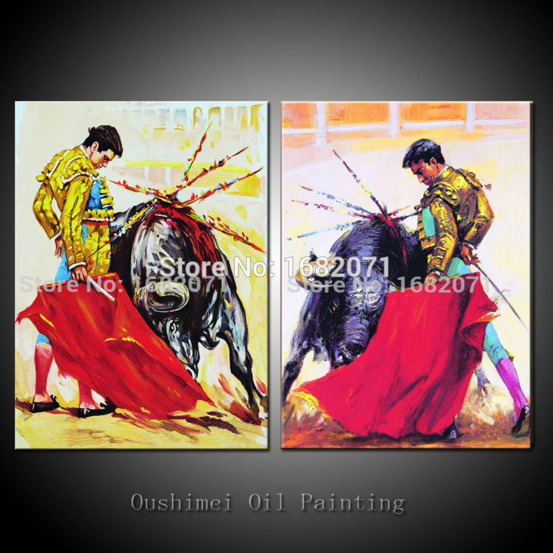 Professional Artist Hand Painted High Quality Abstract: Popular Matador Oil Painting-Buy Cheap Matador Oil