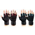 Dumbbell Wrist Strap Non slip Sports Gloves Unisex Equipment Strength Training Half Finger Breathable Fitness Glove