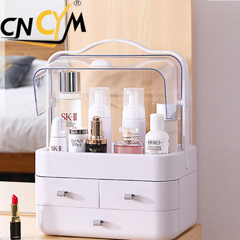 Display ABS Dustproof Cosmetic makeup vanity box/makeup kits for professionals box