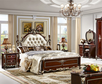 French Style Solid Wood Bedroom Furniture Sets Suite Furniture Bed