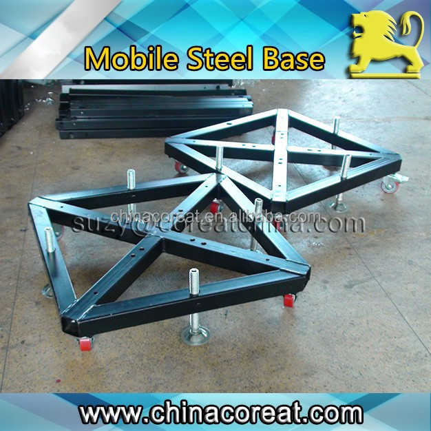 300*300mm Tower Truss Wheel Mobile Steel Base