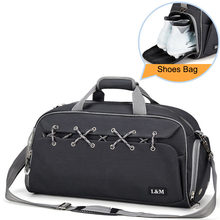 40L сумки для тренажерного зала, для фитнеса, сухой, влажной сумки, Мужская Дорожная сумка на плечо для обуви, профессиональная тренировочная ...(Китай)