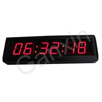 Small led screen number display master slave clock with digital calendar indoor