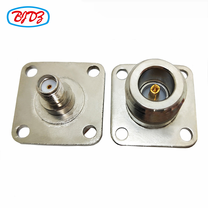 RF terminals 4 holes N female flange to SMA female adapter N-J flange to SMA-J connector adapter