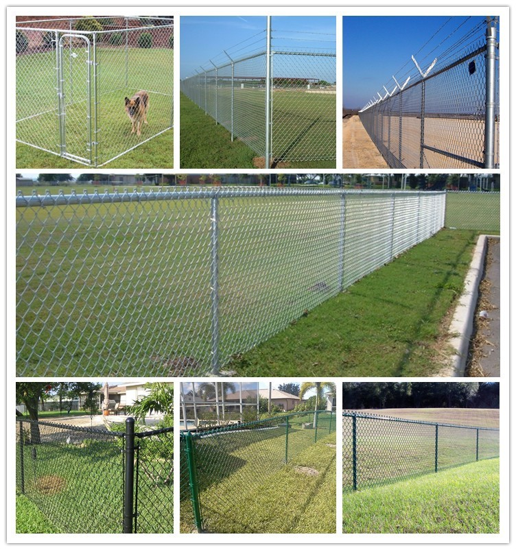 Commercial Residential Chain Link Fence Top Barbed Wire