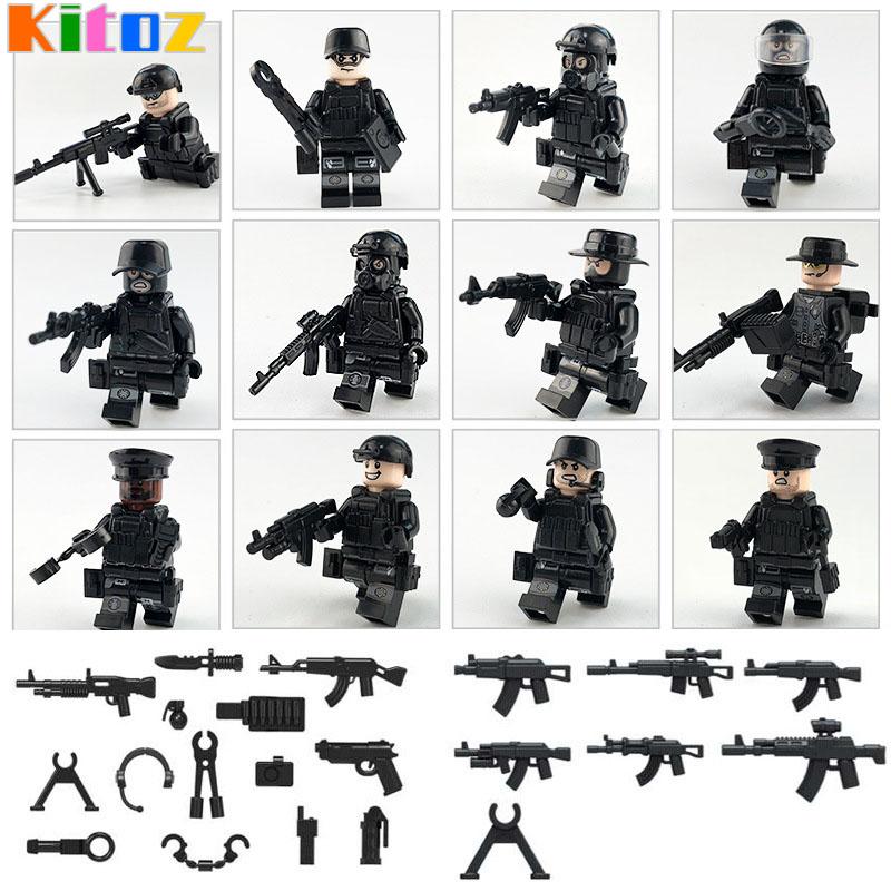 Kitoz MOC Современная война армия США Русский морской солдат против террора фигурка оружие строительный блок кирпичная Игрушка совместима с Lego(Китай)