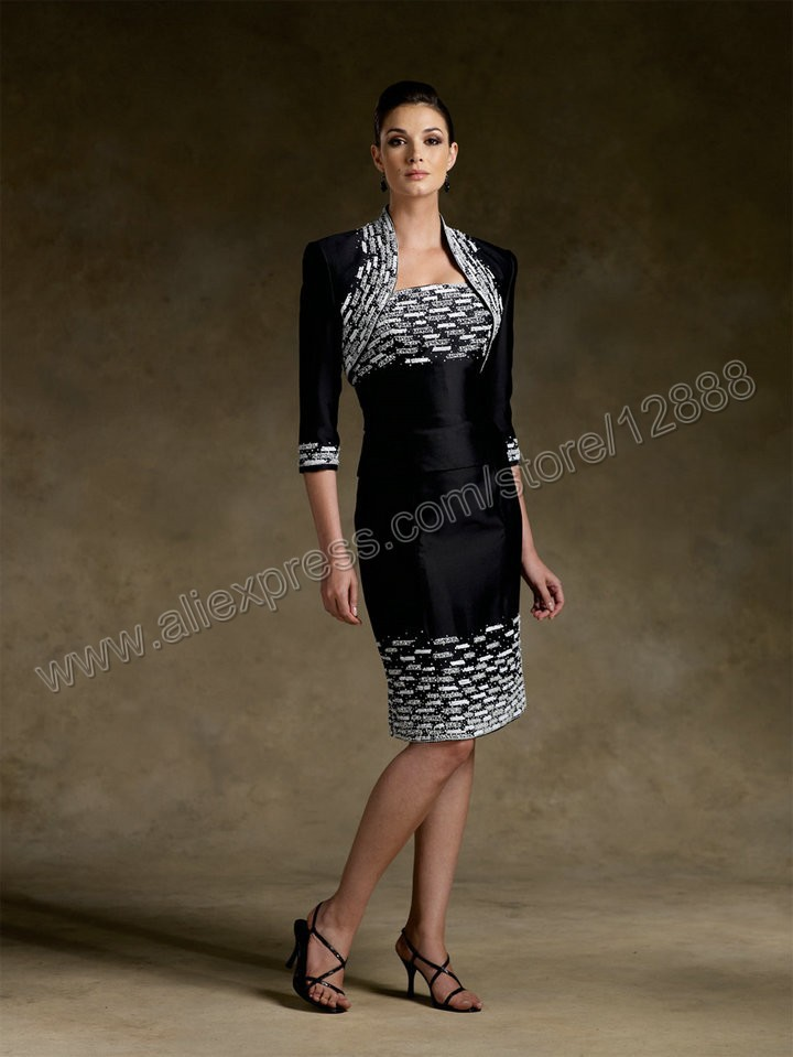 Mother Of The Bride Dresses In Black And White 56