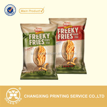 Matte printing BOPP plastic film work in VFFS machine for fries potato chips premade bag