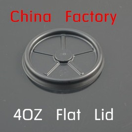 4oz 62mm flat plastic cup lid without hole for paper cup