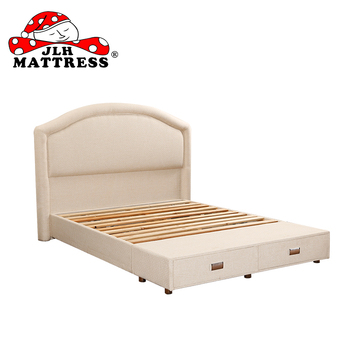 Elegant Style Queen Bed Frame Wooden Double Bed With Drawers - Buy ...