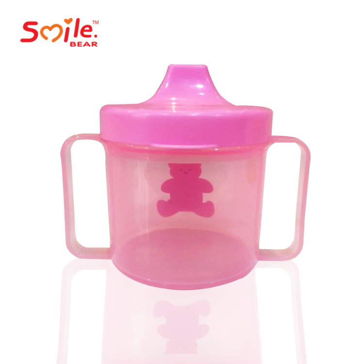 Wholesale food grade PP 210ml BPA free cute baby sippy cup with handles