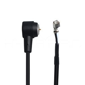 Micro 2 pin magnetic circular connector to open wire connector