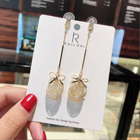 Korean Fashion Accessories Factories Gift Gold Stud Earrings Accessories with Cute Bowknot