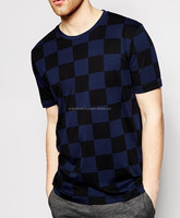 Mens t shirt with allover checker board print