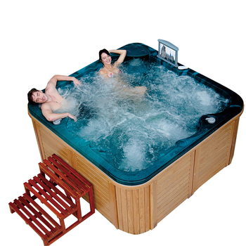 Spa-h01 Wholesaler Bathroom Two Lounge Whirlpool Spa Wood Hot Tubs ...