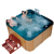 SPA-H01 wholesaler bathroom two lounge whirlpool spa wood hot tubs with video