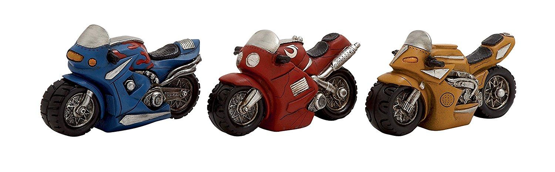 Benzara 3 Assorted Exclusive Polystone Moto Piggy Bank