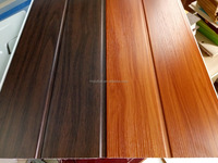 2016 Middle groove wooden designs PVC ceiling and wall panel