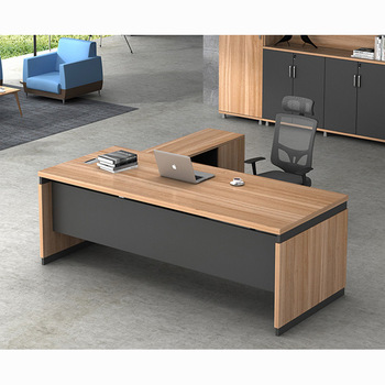 Latest Modern L Shape Executive Wooden Office Tables Design