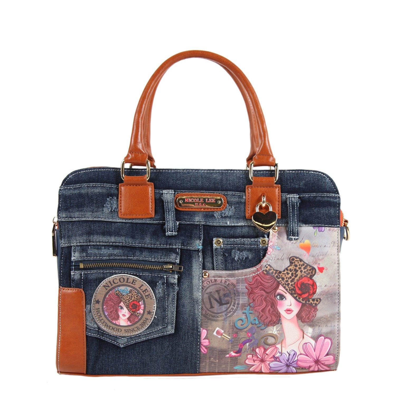 8ca27f5f81d9 Buy Nicole Lee Wanda Denim Print Backpack Purse in Cheap Price on ...