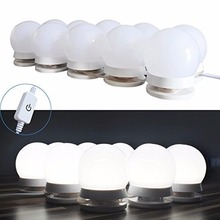 Hollywood Style LED Vanity Mirror Lights Kit with Dimmable Light Bulbs, Lighting Fixture Strip for Makeup Vanity Table Set