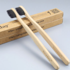 natural bamboo biodegradable adult bamboo toothbrush with soft charcoal bristles BPA free OEM