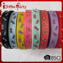 Hot Sale Colorful Wholesale Cheap Customized Pattern Satin Grosgrain Ribbon For Wedding/Gift