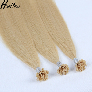 Super good quality keratin bonds hair extension double drawn hair
