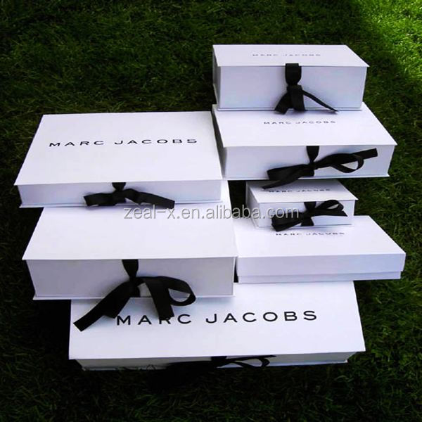 Apparel garment clothes gift packaging Luxury white collapsible custom <strong>box</strong>
