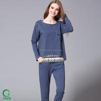 Ladies Pant And T Shirt Sets Custom Women Cotton Cheap T Shirts