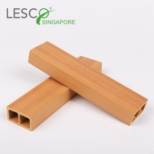 Modern Wood Plastic Hollow Timber Tube For wall 47*25mm China Supplier