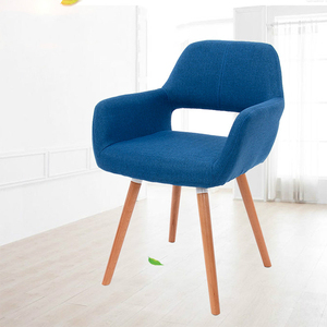 Modern Living room leisure backrest chair comfortable upholstered wooden legs colorful armchair