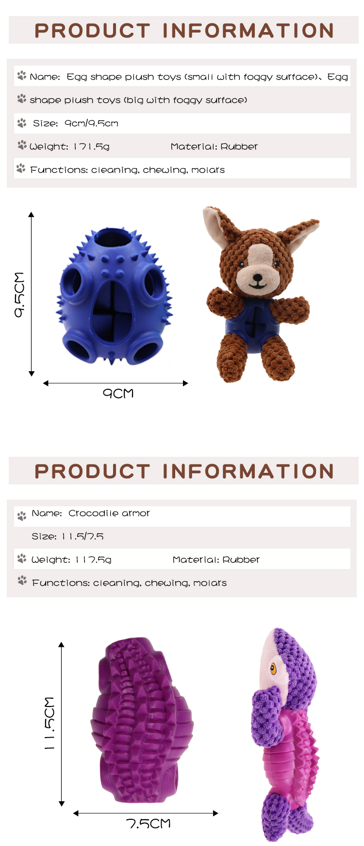 Manufacturer of rubber plush toys wholesale plush toys and rubber toys.