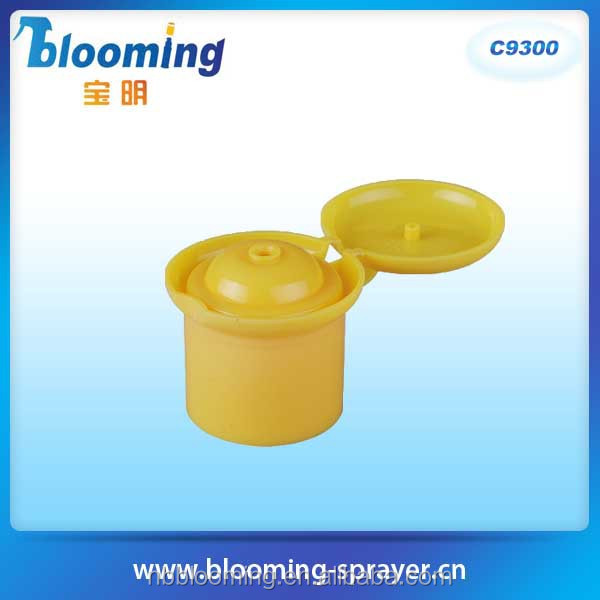 new design with top quality plastic tube flip top cap