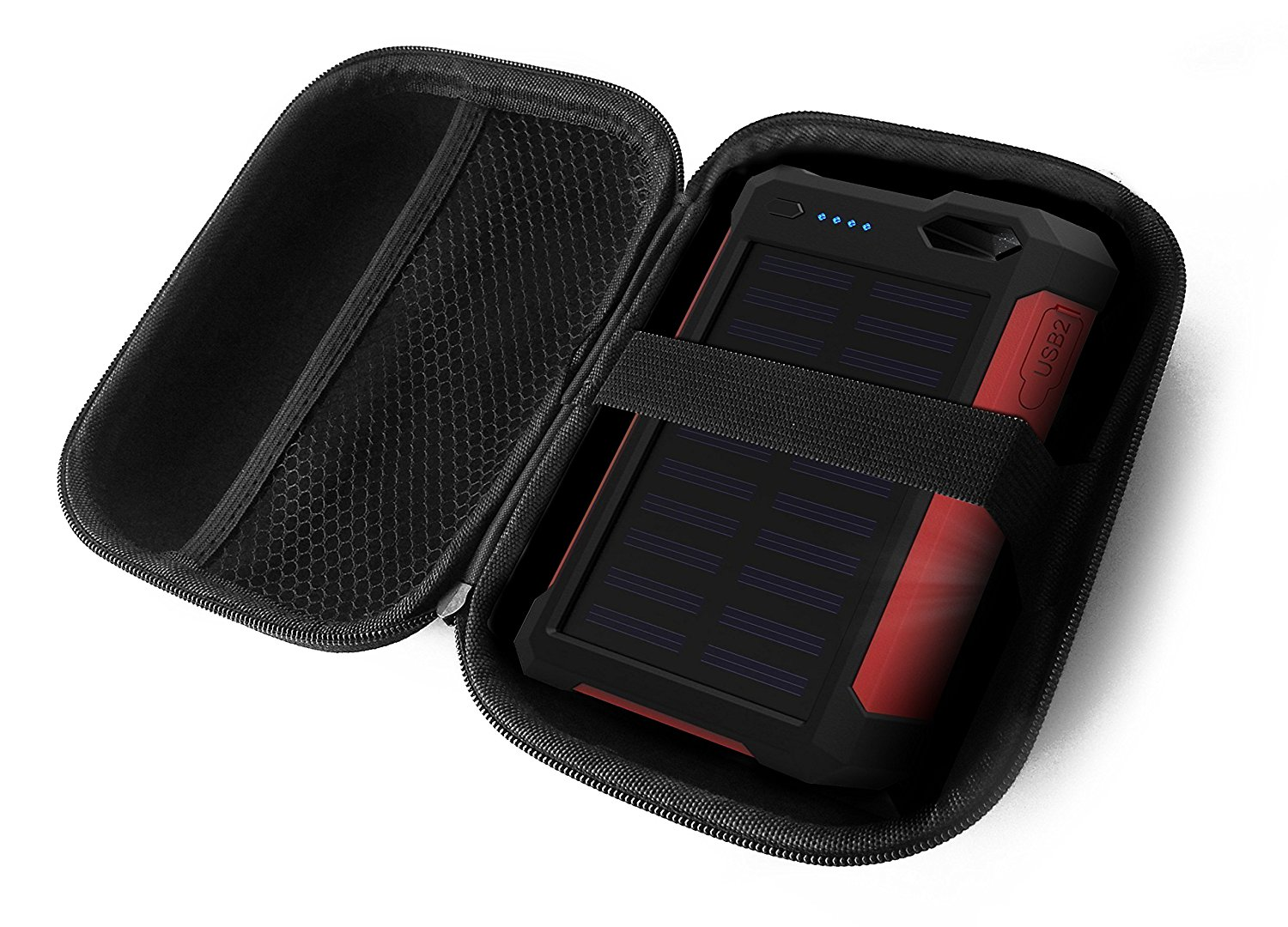 FitSand Hard Case for iClever 10000mAh Portable Solar Power Bank Dual USB Port Charger Battery Travel Zipper Carry EVA Best Protection Box