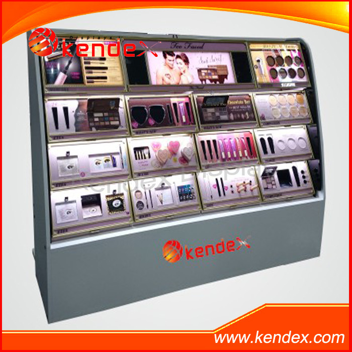 Retail Shop fitting Cosmetic Beauty Makeup Display Stand Clear Acrylic Good Quality