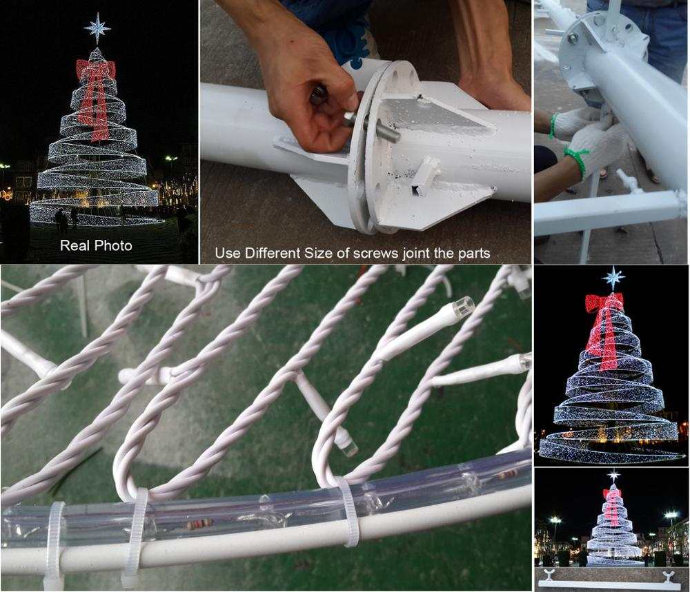 H:20ft Holiday Decoration Metal Frame Led Ribbon Wire ...