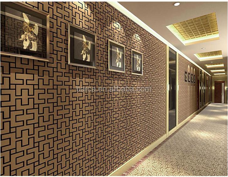 Behang Met Patroon : Chinese stijl bruin kleuren behang doolhof patroon behang