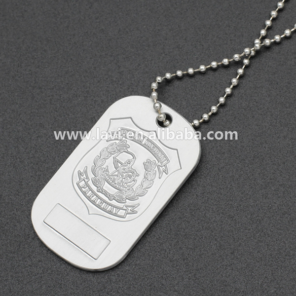 Hot Sale Custom Dog Tag Ball Chain Necklace Nickel Free Metal Wholesale From China