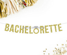 Bachelorette Banner, Gold Glitter Banner | party decorations | bride to be