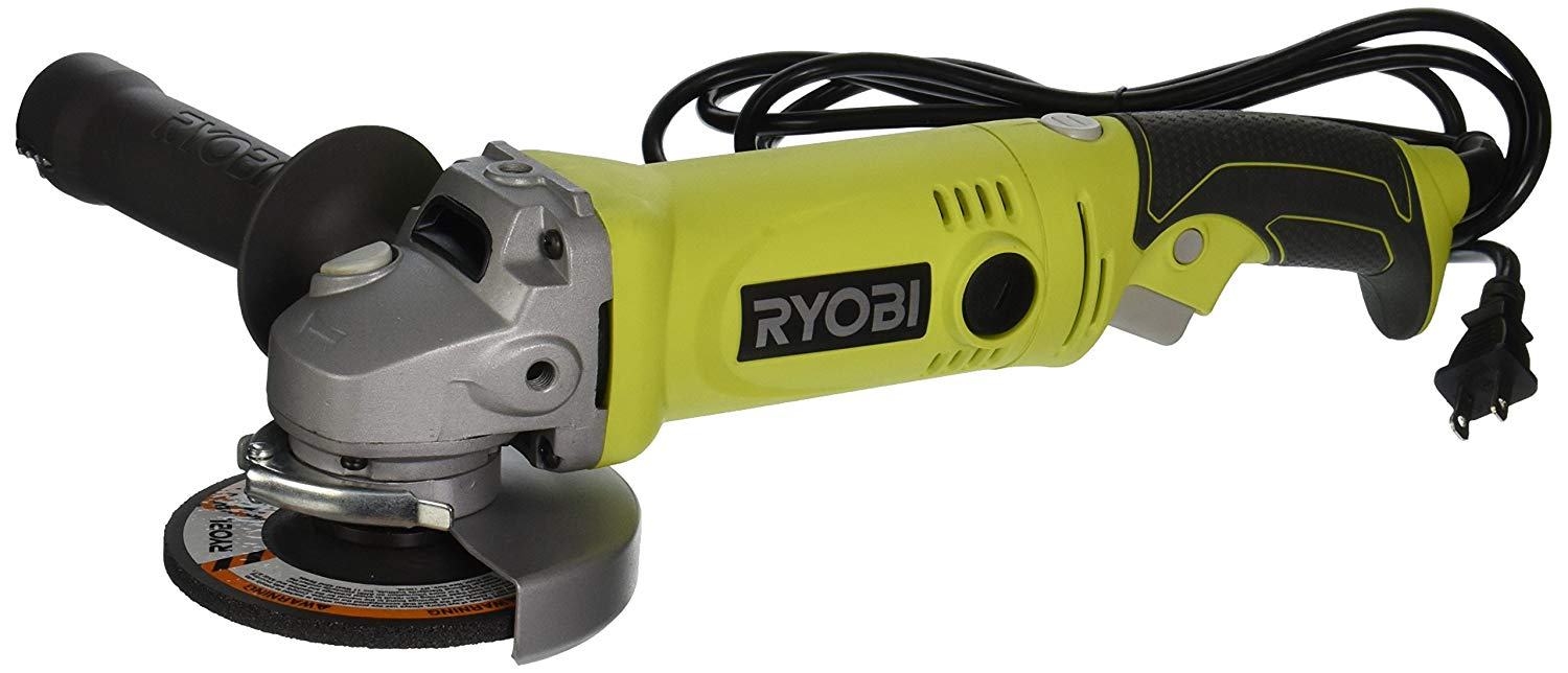 Ryobi AG4531G 6.5-Amp Angle Grinder with Twist Handle Green