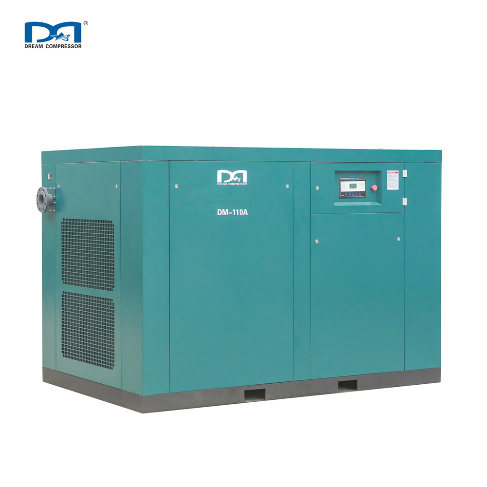 110KW Oil Less AC Power Screw Air Compressor Harga Mesin
