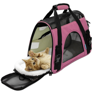 Paws And Pals Airline Approved Pet Carriers With Fleece Bed - Soft Sided Dog Carrier For Outdoor Travel