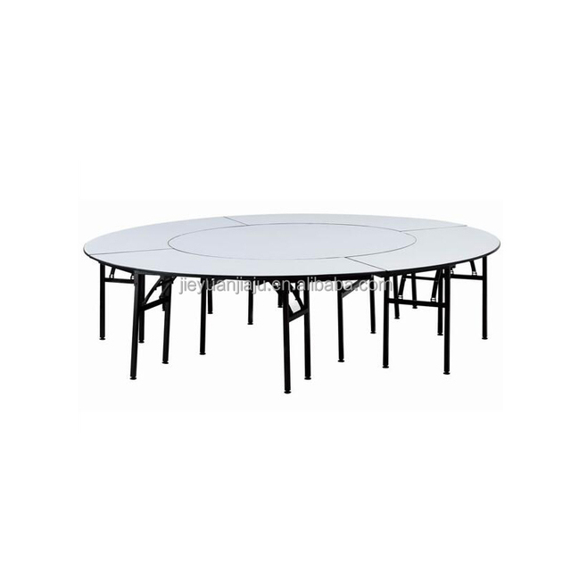 Wholesale PVC Hotel Folded Round Banquet Hall Catering Table