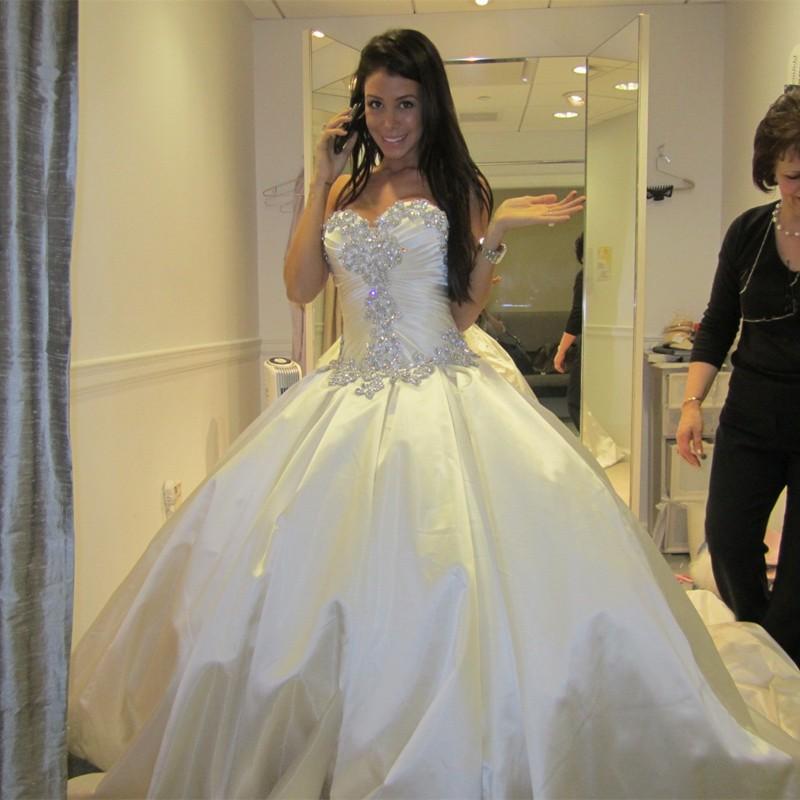 Silk Taffeta Wedding Gowns: New Arrival 2015 Luxury Sweetheart Wedding Gown Bling