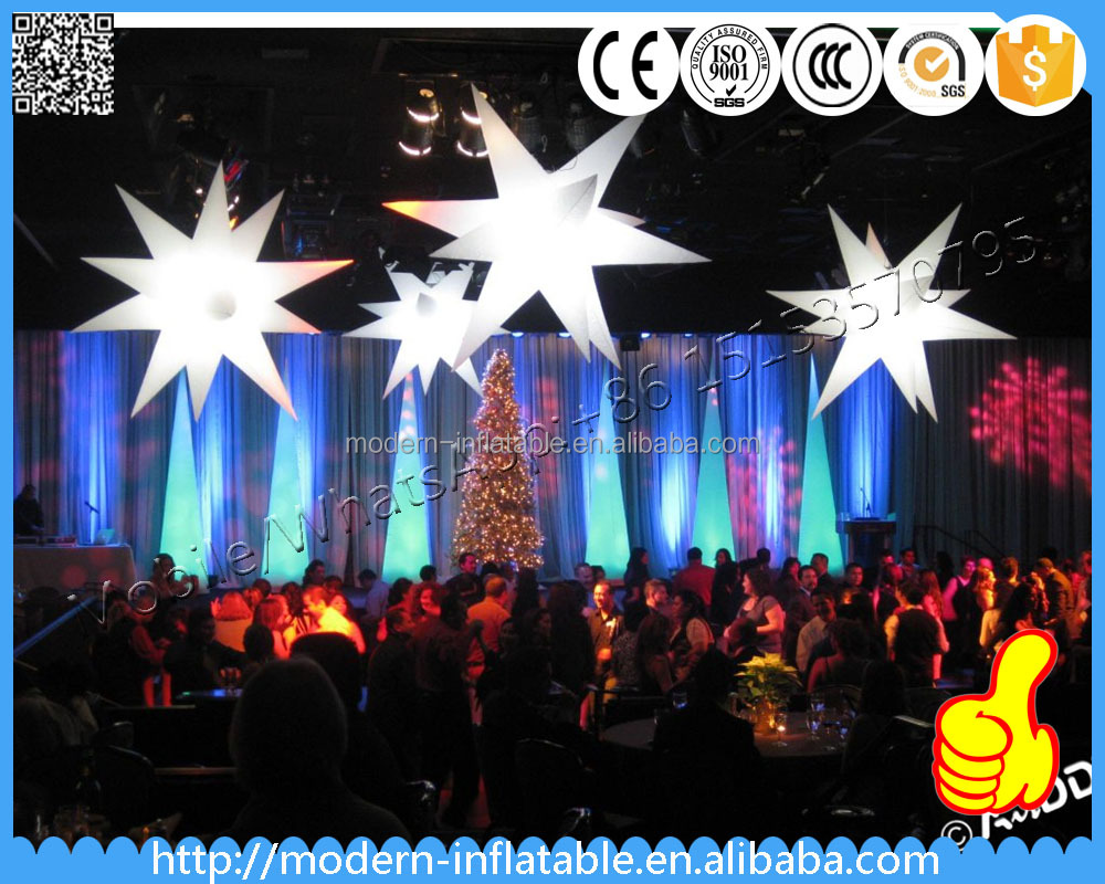 colorful inflatable led lighting yard star for event decoration