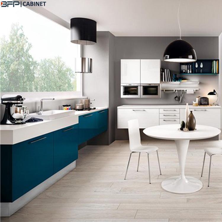 White Color Mixed Blue Lacquer Contemporary Kitchen Cabinet Buy Lacquer Kitchen Cabinet Contemporary Lacquer Kitchen White Color Mixed Blue Lacquer