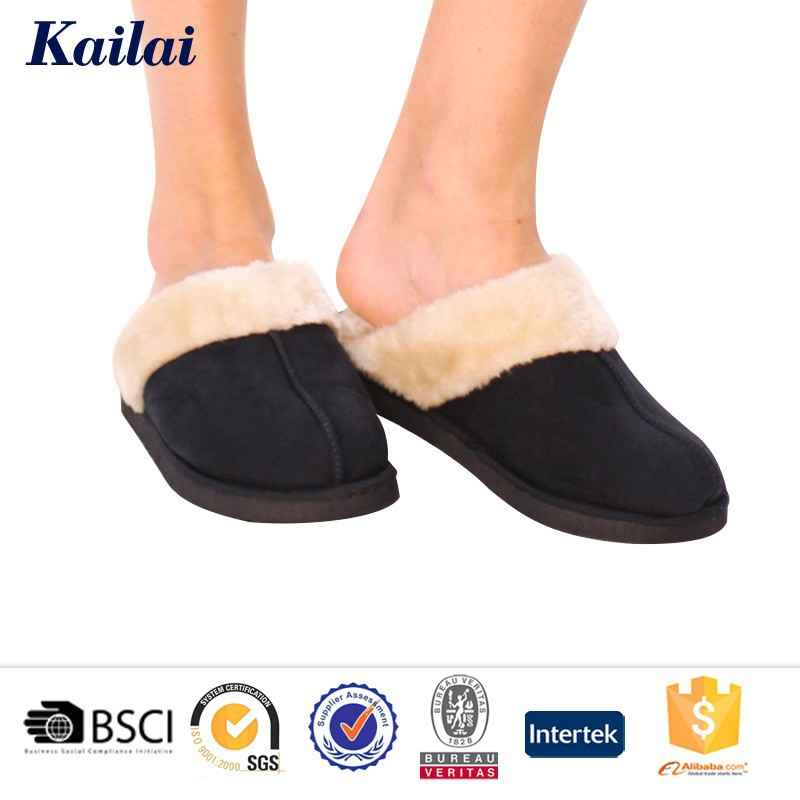 New Fashion Fluffy Winter Indoor Latest Ladies Leather Slippers ...