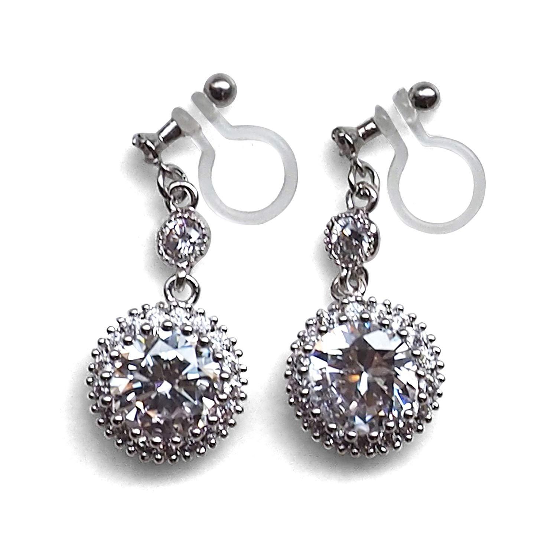 GiftJewelryShop Bronze Retro Style Dew Drop Rose Photo Stud Earrings 10mm Diameter