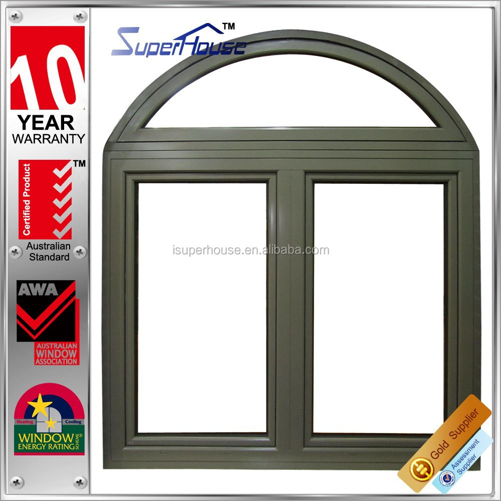 Superhouse australia AS2047 Standard soundproof aluminum round top casement window